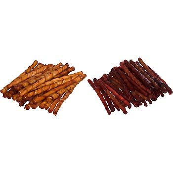 Petco Assorted Flavored Dog Rawhide Twist Sticks,