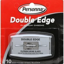 Personna Platinum Stainless Steel Double Edge Razor Blades 10 Blades Per Package (Personna Blades Double Edge compare prices)