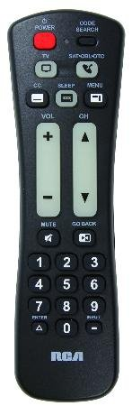 Rca Two Device Universal Remote Control Oversized Buttons Hd Digital Sub Channel Support