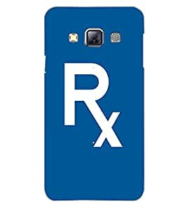 SAMSUNG GALAXY A3 RX Back Cover by PRINTSWAG