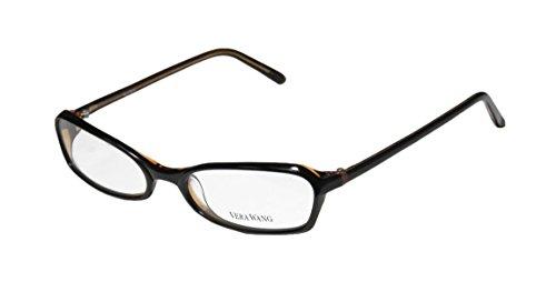 Vera Wang V104 Womens/Ladies Ophthalmic Spectacular Designer Full-rim Eyeglasses/Spectacles (51-17-130, Black / Tan) (Elite Carbon Cub compare prices)