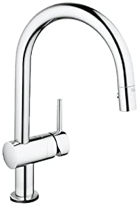 Grohe 31359000 Minta Touch-Activated Electronic Single-Handle Kitchen Faucet, Chrome