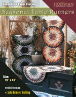 Seasonal Table Runners Pattern and Foundation Papers By Judy Niemeyer - NEW