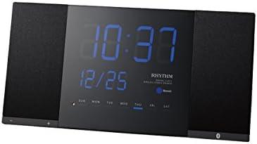 RHYTHM(リズム時計) 【NEW PRODUCT】 音楽やラジオなど、新しい生活スタイルをご提案するLED時計。 TOKIOTO(トキオト) 黒色 8RDA71RH02
