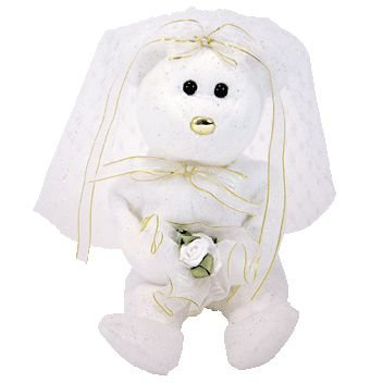 Ty Beanie Baby - Hers The Bride Bear (Internet Exclusive) back-1001682