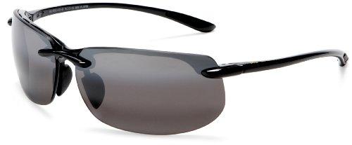 Banyans Maui Jim Black Gloss polarized 412-02 Sunglasses