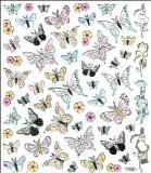 Multi-Colored Stickers-Black Tip Butterflies