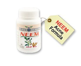 Acne Pills - Neem Capsules - 60 Acne Tabets - Acne Blemish Treatment / Pimple Blackheads Treatment Remover