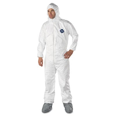 E.I. Dupont De Nemours Industrial Use Tyvek� Hooded Coveralls With Elastic Wrists And Attached Boots. Includes 25 Coveralls. Manufacturer Part Number: Dup Ty122Sxl