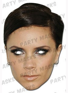 Victoria Beckham Celebrity Party Mask - Single