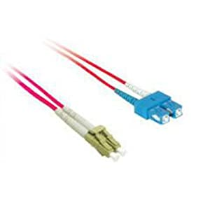 C2G / Cables to Go 37798 LC/SC Plenum-Rated 9/125 Duplex Single-Mode Fiber Patch Cable, Red (16.40 Feet/ 5 Meter)