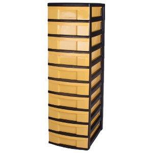 cassettiera con ruote plastica cassettone con 10 cassetti. Black Bedroom Furniture Sets. Home Design Ideas