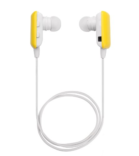 Glcon® Mini Yellow Wireless Stereo Bluetooth Bt Headset Headphone Earphone Earpiece Earbud With Noise Cancellation, A2Dp, Microphone Mic, Music Remote Control, For Sports, Running, Gym And Exercise, Great Compatible With Apple Iphone 5/5S/5C, Iphone 4/4S,