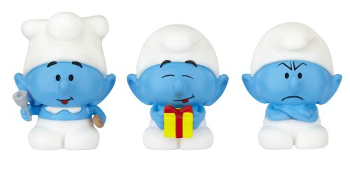 The Smurfs, Micro Village, Micro Figures Cook, Grouchy, and Jokey, 3-Pack - 1
