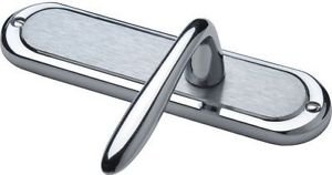 Henley Lever Latch Door Handle - Satin/Polished C from New A-Brend