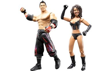 Picture of Jakks Pacific World Wrestling Entertainment WWE Series 29 Adrenaline 2 Pack 7 Inch Action Figures - The Miz with Cowboy Hat and Layla with Microphone (B0015I3KT4) (Wrestling Action Figures)