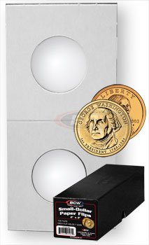 100 Paper Flips Small Dollar Coin Collecting Storage - Boxed