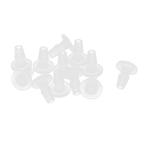 Lavatrice Rondella Plastica Valvola Di Scarico Sigillo Nera 13mm Alto 12pcs