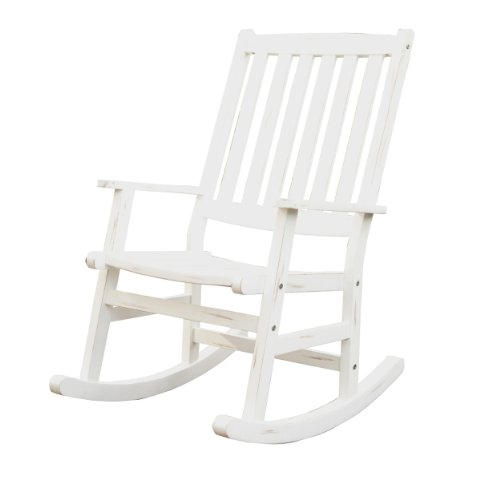 Home Styles Bali Hai Outdoor Rocking Chair, White front-365277