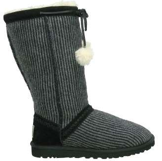 Image of UGG 5826 CLASSIC TALL WOOL STRIPE BLACK (B004IA3PVY)