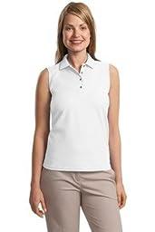 Port Authority Ladies Silk Touch Sleeveless Sport Shirt L500SVLS