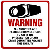 SECURITY SIGN & DECAL - #204 VIDEO CCTV CAMERA WARNING SIGNS