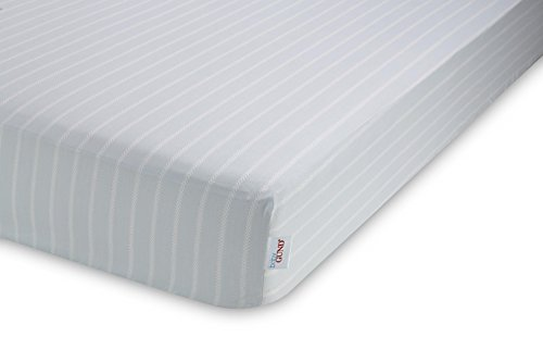 GUND Babygund Herringbone Deluxe 300 Thread Count Crib Sheet, Herringbone - Peek A Blue, 28'' By 52''