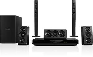 Philips HTB3540/12 Home Cinéma 5.1 3D Blu-ray/Smart TV + 2 enceintes colonnes 1000 W