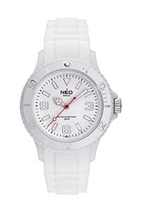 NEO watch - 'NICE-1' white unisex montre mixte blanche femme/homme avec bracelet en silicone - N1-002