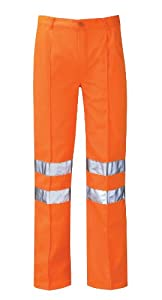 Hercules Pcrttr Delta Rail Size 44 Work Trousers Reg Leg - Orange