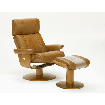 Swivel Recliner And Ottoman front-1062460