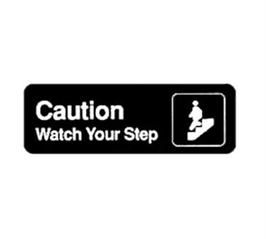 Winco SGN-326 Sign, 3-Inch by 9-Inch, Caution/Watch Your Step