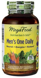 MegaFood - DailyFoods Men's One Daily Iron Free - 90 Vegetarian Tablets