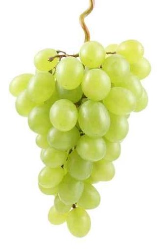 Food Wall Decals Bunch Of Fresh Green Grapes Isolated On White - 24 Inches X 16 Inches - Peel And Stick Removable Graphic front-777901