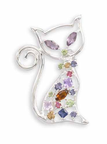 Swarovski Kitty Fashion Pin