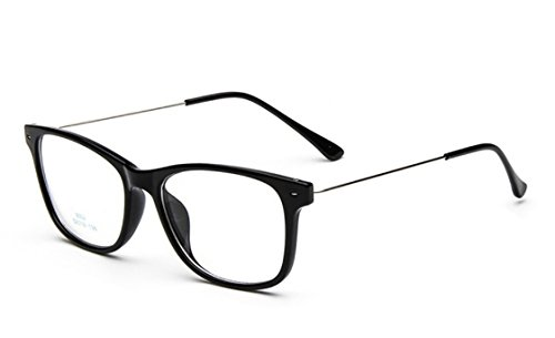 Flowertree Unisex S9352 Lightweight Super Thin Arm Wayfarer 52mm Glasses (glossy black) (Spectacles Frame compare prices)