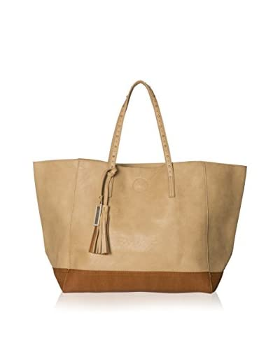 Urban Originals Women's Love Affair Solid Tote Bag, Camel/Chocolate