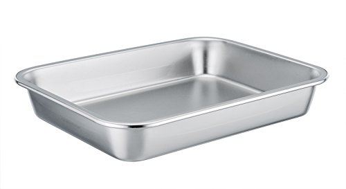 TeamFar Stainless Steel Roasting Pan Rectangular Roaster, Compact Size 8''x10''x1.7'', Healthy & Non toxic, Easy Clean, Dishwasher Safe