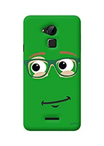 Gobzu Printed Hard Case Back Cover for Coolpad Note 3 - Green Smiley