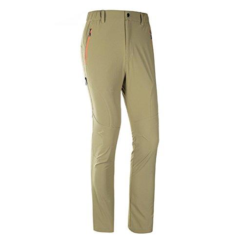 Modern Fantasy Mens Quick-dry Elasticity Waterproof Outdoor Sport Pants Size US L Khaki
