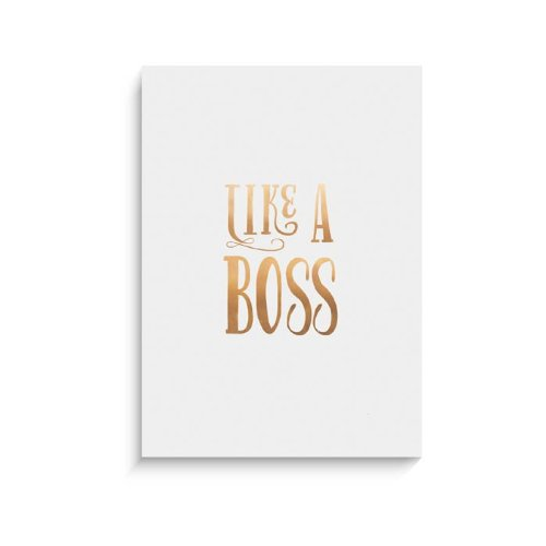 "Lucy Darling Gold Like A Boss Wall Decor, White, 8"" x 10"""