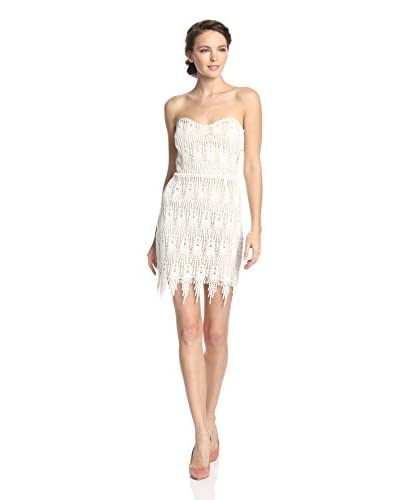 Aijek Women's Daydreamer Lace Strapless Dress