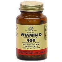 Solgar Vitamin D Softgels 400 IU (Cholecalciferol) - 100 Softgels