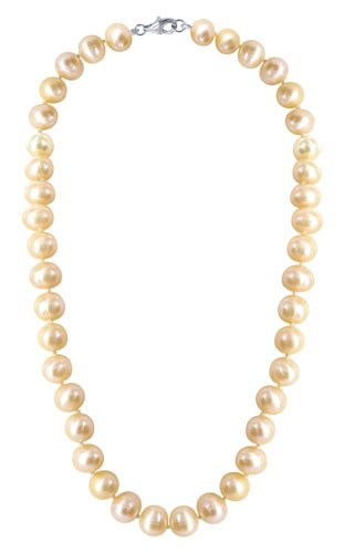 Sterling Silver Round Pearl Beads 7mm x 77mm7mm Necklace 18 inch Lobster Clasp