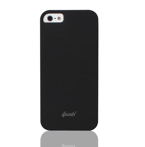 iPush スタイリッシュ スリムハードカバーケース ラバーコーディング加工 ブラック for iPhone 5S | iPhone 5 耐磨耗/耐傷性