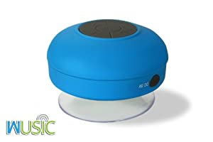 Wusic Bluetooth Wireless Speaker, Waterproof and Portable for All Smartphones, Ipad, Apple Iphone, Android. Use As Speakerphone or Jam in Shower, Blast in Car or Boat. Outdoors or Indoors. Latest Stylish Design with Silicon from Wusic Tech