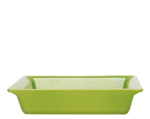 Emile Henry 9 By 9-Inch Square Baking Dish, Green Apple