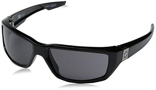 Spy Optic Dirty Mo Sunglasses,Shiny Black Frame/Grey Lens,One Size front-39931
