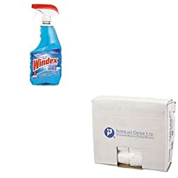 KITDRA90135EAIBSEC243306N - Value Kit - IBS EC243306N High Density Commercial Coreless Roll Can Liners, Natural (IBSEC243306N) and Windex Powerized Glass Cleaner with Ammonia-D (DRA90135EA)