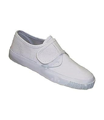 Mirak Unisex Children's Velcro Plimsolls White UK Size 1